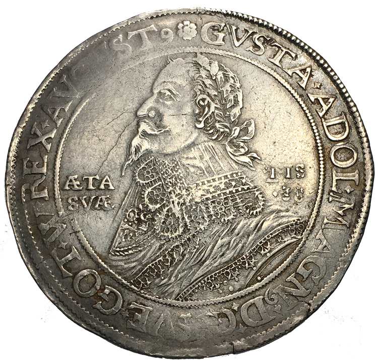 Gustav II Adolf, OSNABRÜCK, Taler 1633 - Tilltalande exemplar