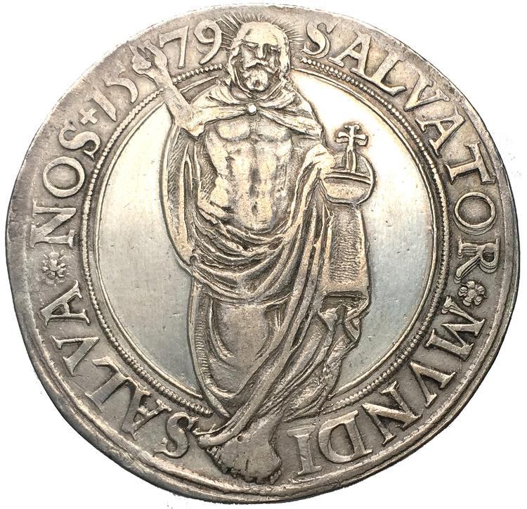 Johan III - Daler 1579 -Väl utpräglad och underskattad årtalsraritet - RAR