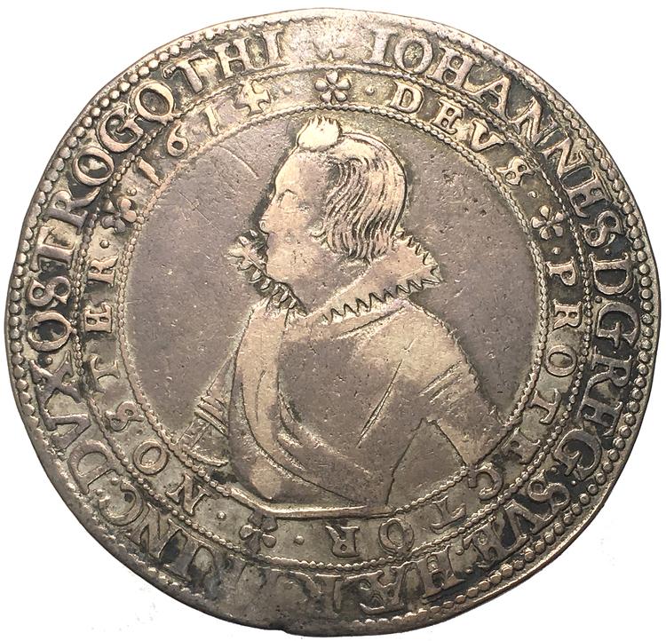 Johan hertig av Östergötland, Vadstena 4 mark 1614 - RAR