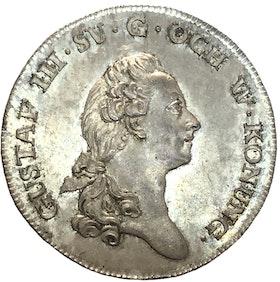 Gustav III - kastmynt 1778 ocirkulerat toppexemplar med fantastisk lyster