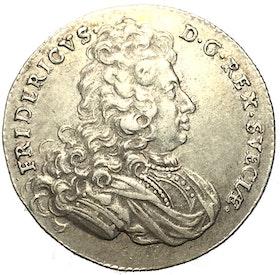 Fredrik I - Mark 1721 - Vackert exemplar
