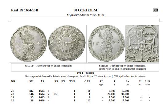 Karl IX - 4 mark 1604 - Tilltalande exemplar