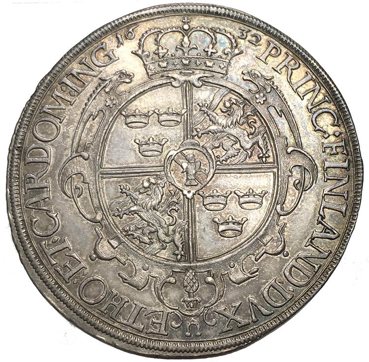 Gustav II Adolf, Augsburg Taler 1632 - MYCKET VACKERT EXEMPLAR