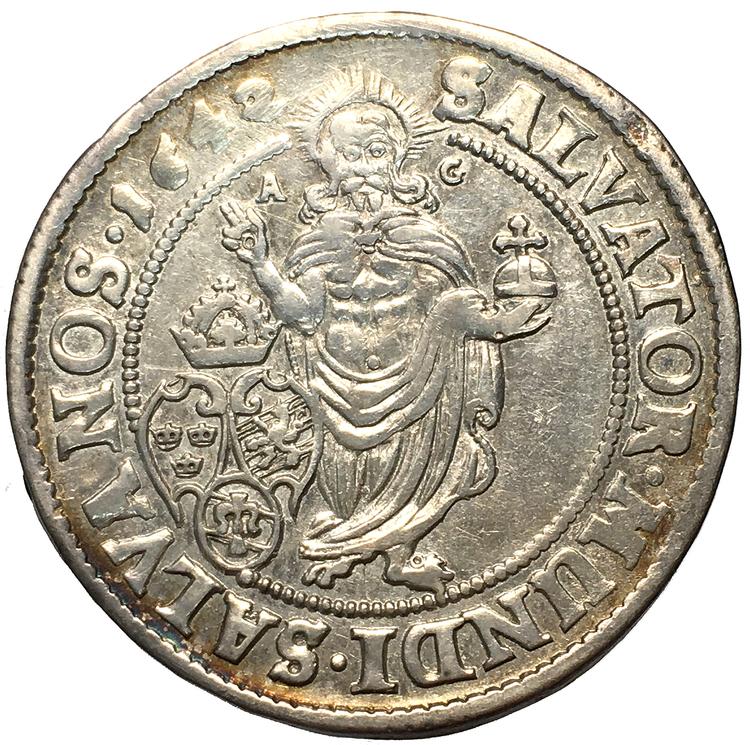 Kristina, Stockholm 1/4 Riksdaler 1642 - Helt årtal AG upptill