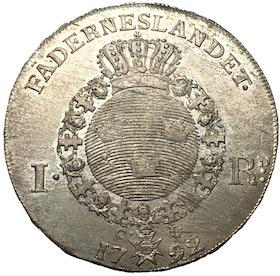 Gustav III, Riksdaler 1792 - OCIRKULERAT TOPPEXEMPLAR