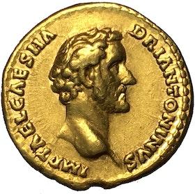 Romerska riket, Antoninus Pius 138-161 e.Kr, Aureus - VACKERT EXEMPLAR