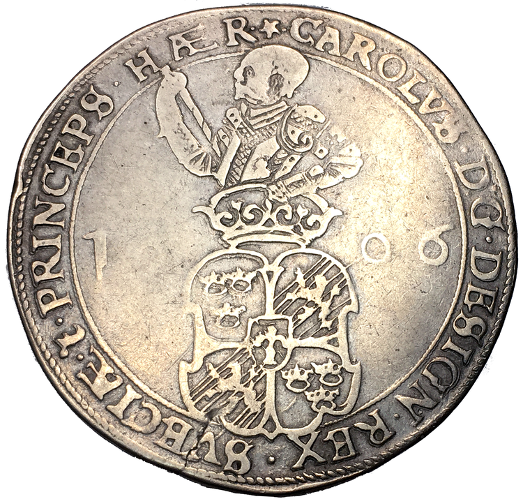 Karl IX - 4 Mark 1606 - Tilltalande exemplar