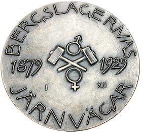 Carl Milles - Bergslagens järnvägar 1879-1929 - Pampig silvermedalj