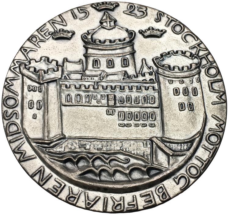 Carl Milles Silvermedalj, Gustav Vasas 400-årsminne 1523-1923 - MYCKET SÄLLSYNT
