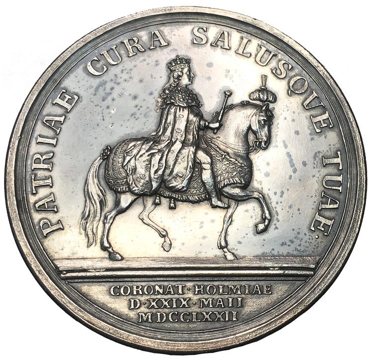 Sverige, Gustav III - KONUNGENS KRÖNING 1772 - Vackert exemplar