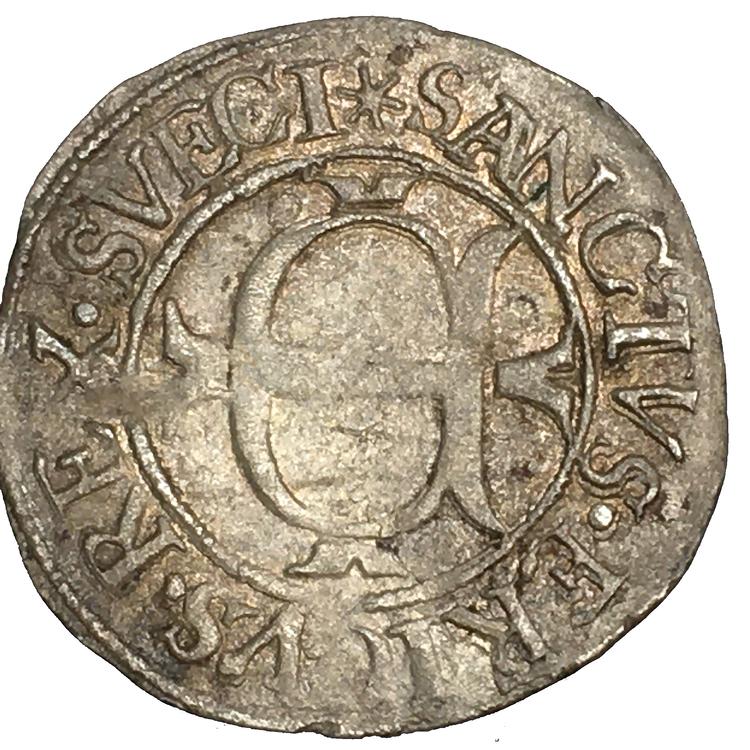 Johan III - Örtug 1590 - Uppsala med SVECI - RR - Ex. Svensson 1559