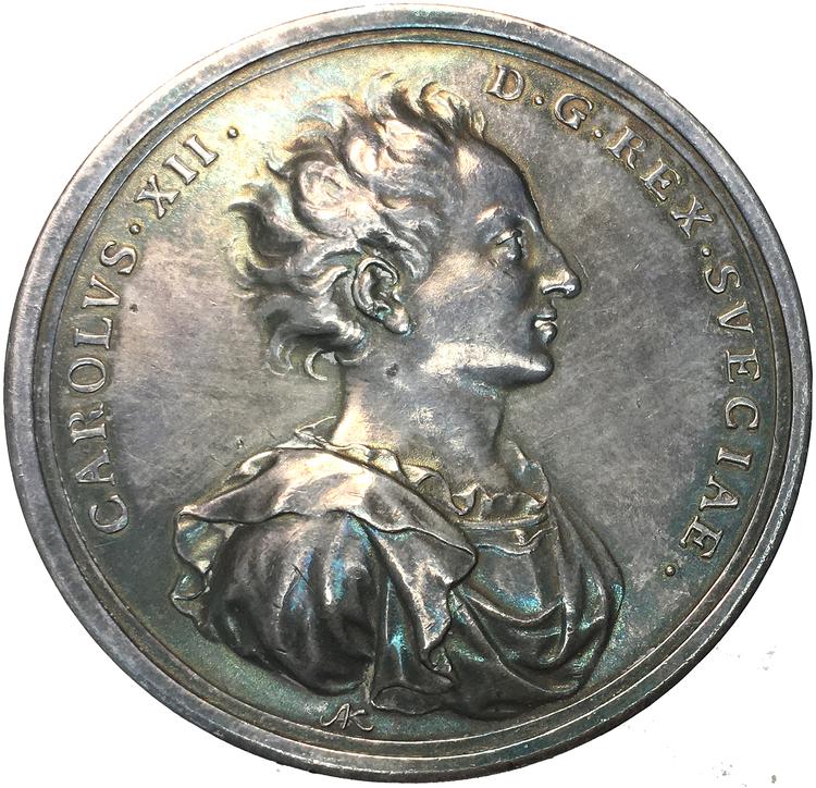 Karl XII - Segern över de rysk-polsk-sachsiska trupperna 1706 - MYCKET RAR - RR av Arvid Karlsteen
