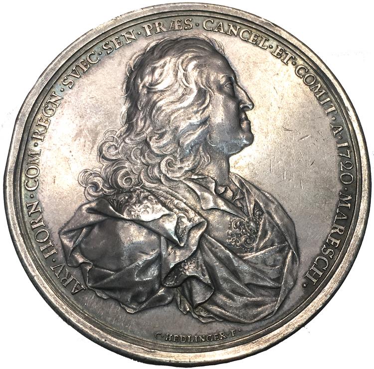 Arvid Horn utnämd till kanslipresident 1720 av Johann Carl Hedlinger