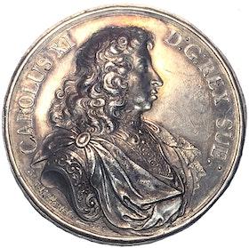 Karl XI och Ulrika Eleonora av Anton Meybusch utgiven 1680 - MYCKET VACKERT EXEMPLAR