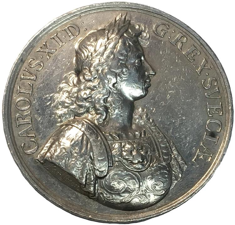 Karl XI - Med anledning av freden i Lund 1679 av Arvid Karlsteen