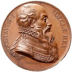 Gustav Vasas minne av J. Salmson - Toppexemplar. Ex. Sven Svensson