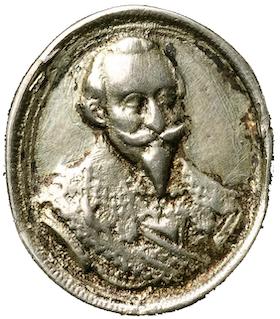 Gustav II Adolf ca 1630 -  Minnespenning från 30-åriga kriget