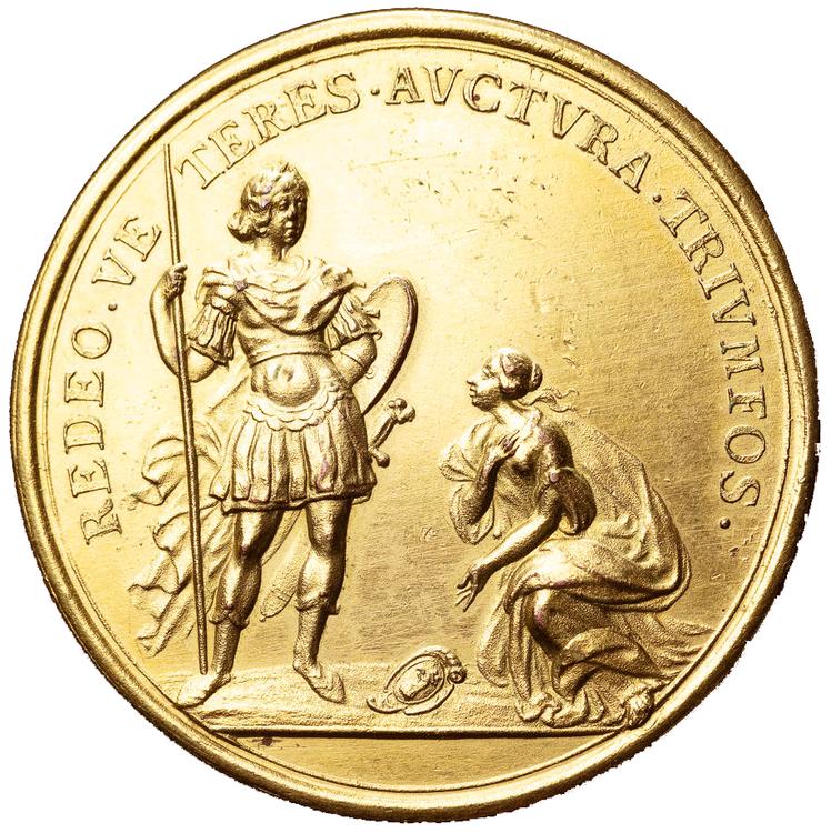 Karl XI, Svenska härens seger över den danska vid slaget vid Lund den 4 december 1676. Av Arvid Karlsteen - SÄLLSYNT