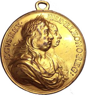 Sverige, Karl X Gustav & Hedvig Eleonora -  ca 1680 - Förgylld med originalögla - RR