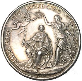 Ulrika Eleonora dä:s kröning 1680 av Anton Meybusch