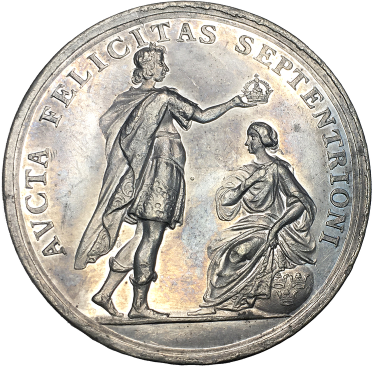 Drottning Ulrika Eleonoras kröning den 25 november 1680 av Arvid Karlsteen - RR