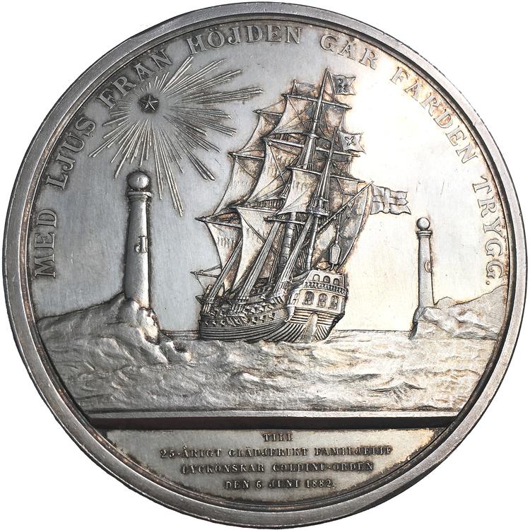 Oskar II - Kungaparets silverbröllop 1882 - MYCKET SÄLLSYNT av Lea Ahlborn