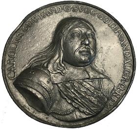 Sverige, Karl X Gustav, Medalj 1658 - Tåget över stora Bält - MYCKET SÄLLSYNT - TOPPEXEMPLAR