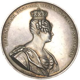 Drottningen Desiderias kröning i Stockholms storkyrka 1829 - MYCKET SÄLLSYNT - RRR av Lundgren