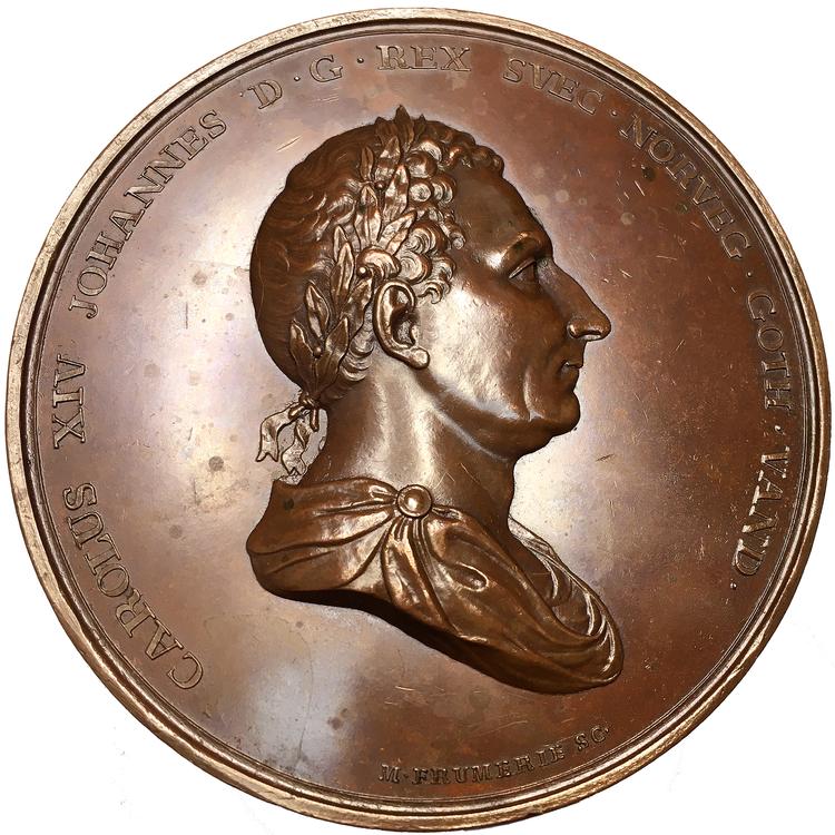 Karl XIV Johan, Konungens 25-åriga regeringsjubileum den 5 feb 1843 av Mauritz Frumerie