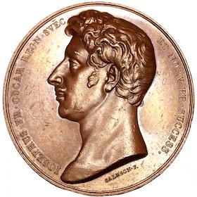 Kronprins Oskar (I) blir kansler för Uppsala universitet 1818 av Salmson - RAR