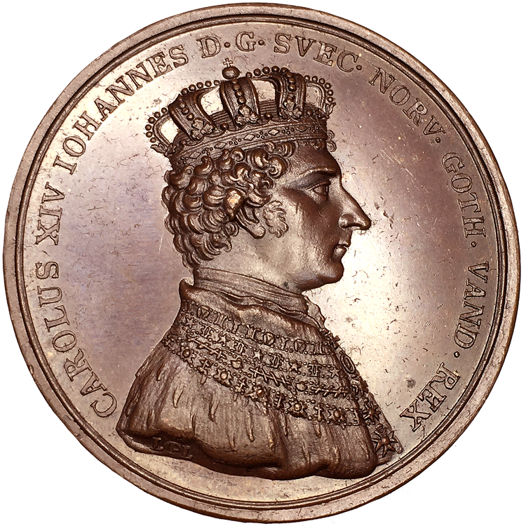 Karl XIV Johan - Kröningen i Stockholm den 11 maj 1818 av Ludvig Persson Lundgren - VACKERT EXEMPLAR