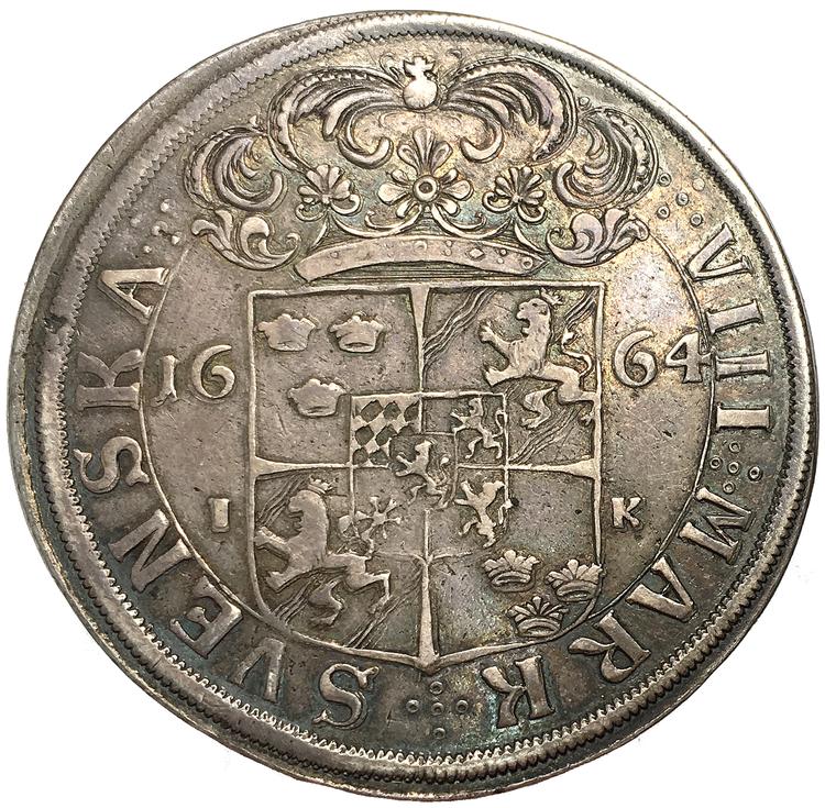 Karl XI - 8 mark 1664 - Ett tilltalande exemplar