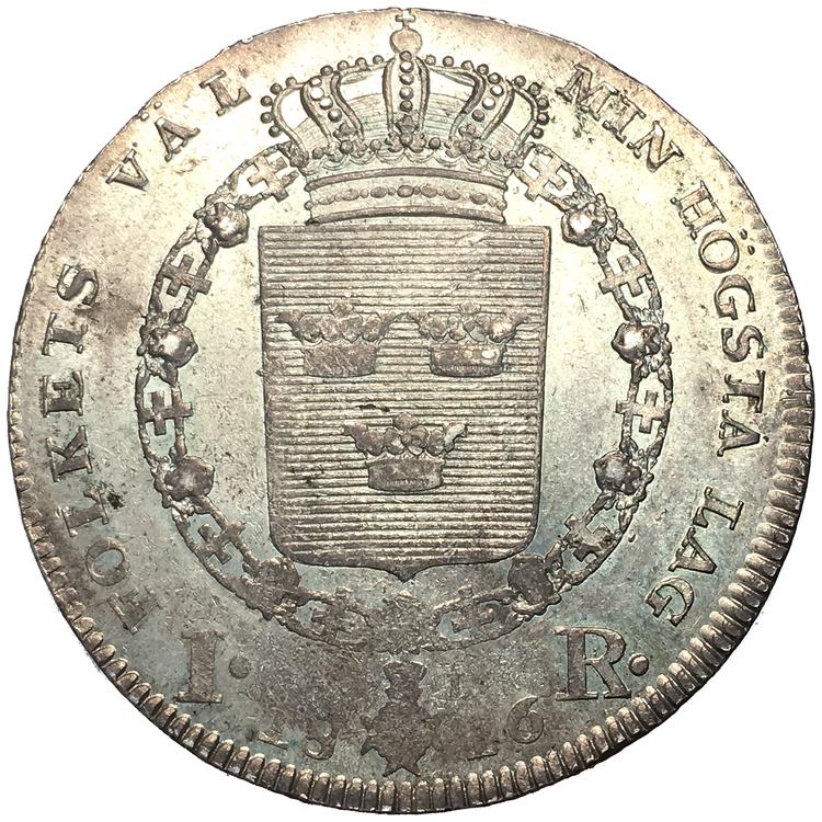 Karl XIII Riksdaler 1816 - VACKERT EXEMPLAR med glans