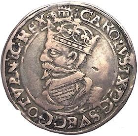 Karl XI - 1/2 Mark 1607 - Tilltalande exemplar på stor fin plants