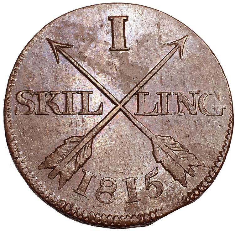 Karl XIII -Skilling 1815 - VACKERT TOPPEXEMPLAR
