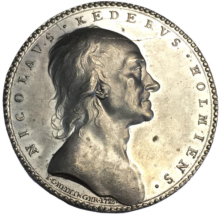 Arvid Karlsteen graverad av Johann Carl Hedlinger 1725 - TOPPEXEMPLAR