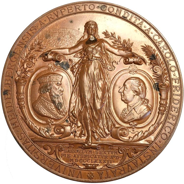 Storhertig Friedrich I av Baden - 500-årsminnet av universitetet 1886 av Schwenzer & Götz