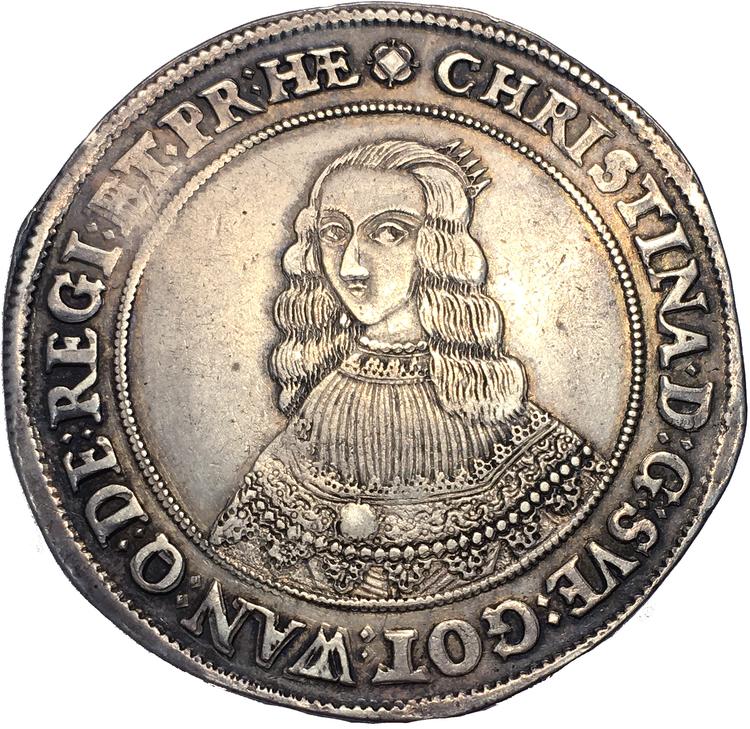 Kristina Riksdaler 1642 - Underbart exemplar med vacker stämpelglans