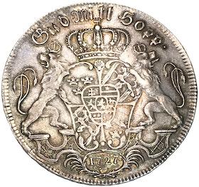 Fredrik I - Riksdaler 1727 - Underbart exemplar med  skimrande stämpelglans
