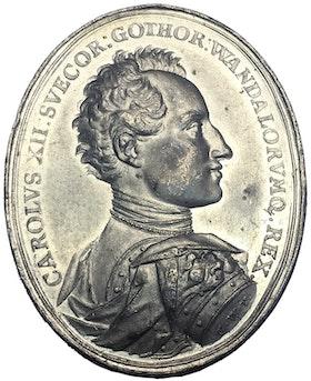 Karl XII - Kalabaliken i Bender 1713 av Vestner - MYCKET SÄLLSYNT - RR - TOPPEXEMPLAR