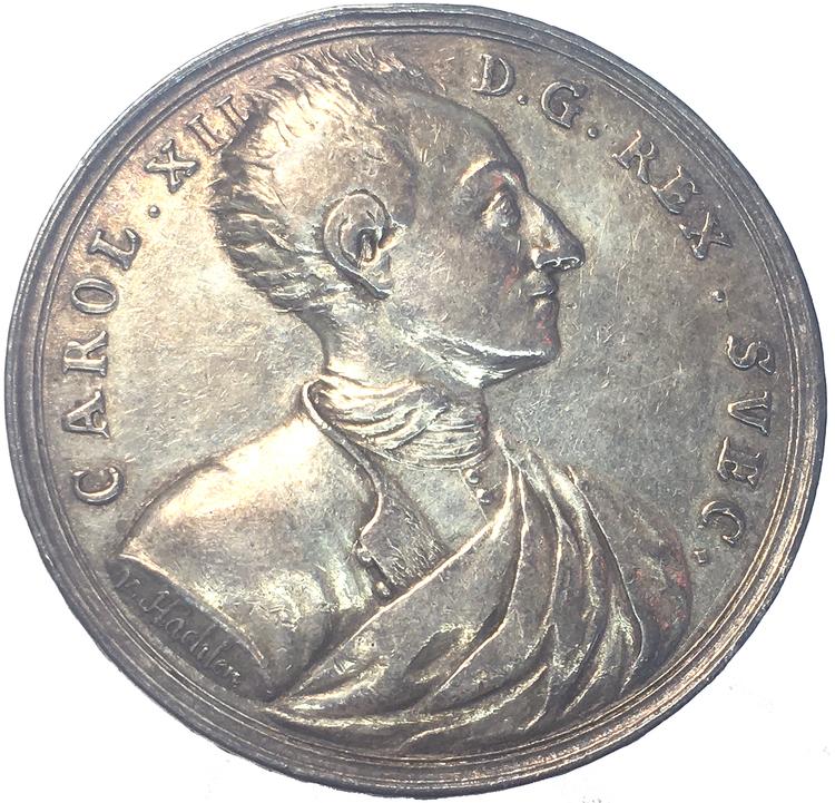 Karl XII - Konungens död under belägringen av Fredriksstens fästning i Norge den 30 november 1718 av Hachten - EXTREMT SÄLLSYNT - RR