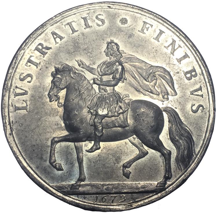 Konung Karl XI rider Eriksgata 1673 - Exceptionellt sällsynt - XR - Arvid Karlsteen