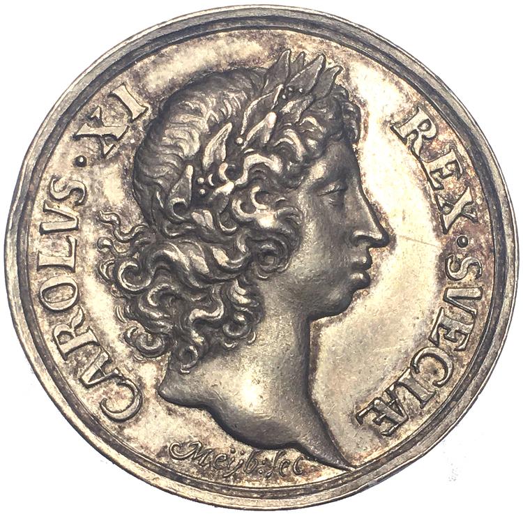 Karl XI - Konungens kröning i Uppsala domkyrka den 28 september 1675 av Anton Meybusch - OCIRKULERAT TOPPEXEMPLAR