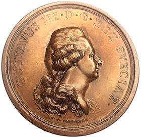 Gustav III - Freden mellan Sverige och Ryssland avslutad på Werelä slott i Finland den 14 augusti 1790 - MYCKET SÄLLSYNT - RRR - av C. G. Fehrman
