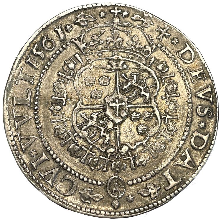 Erik XIV - Daler 1561 Stor bild - TOPPEXEMPLAR - RAR