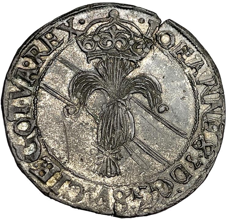 Johan III - Mark 1592 - Ocirkulerat TOPPEXEMPLAR