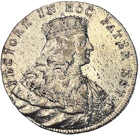 Adolf Fredrik - 2 Mark 1751 - Kastmynt till konungens kröning