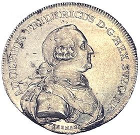 Adolf Fredrik - 2 Mark 1771 - Kastmynt till konungens begravning - TOPPEXEMPLAR