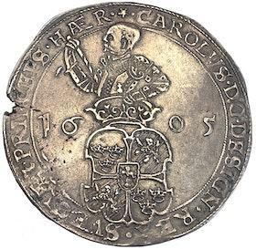 Karl IX - 4 Mark 1605 - Ett vackert och välpräglat exemplar