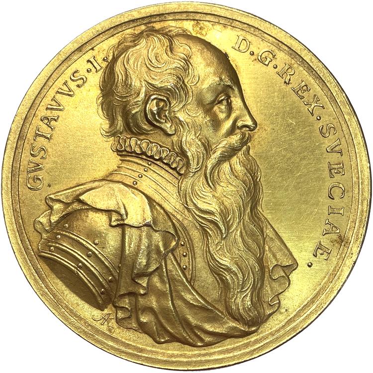 Gustav Vasa av Arvid Karlsteen - Vacker förgylld brons - SÄLLSYNT